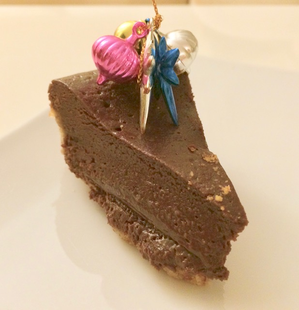 Chocolate lover's dream baked mousse cake