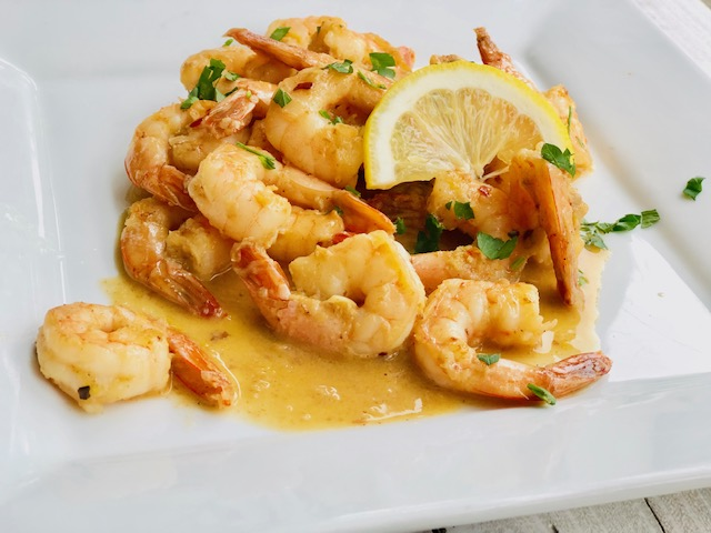Shrimp Scampi - classic simple ingredients done right, resulting in a contemporary restaurant-style dish