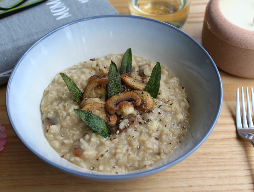 Brown Rice Low-Maintenance Mushroom Risotto