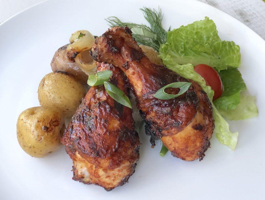Grilled Barbeque Chicken Drumsticks