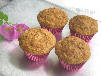 Healthy Whole Wheat Carrot Muffins - Light, Tender and Delicious