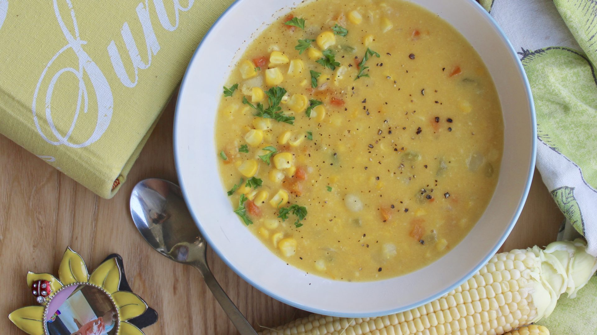 Incredibly Delicious Corn Chowder - Guilt Free Comfort Dish