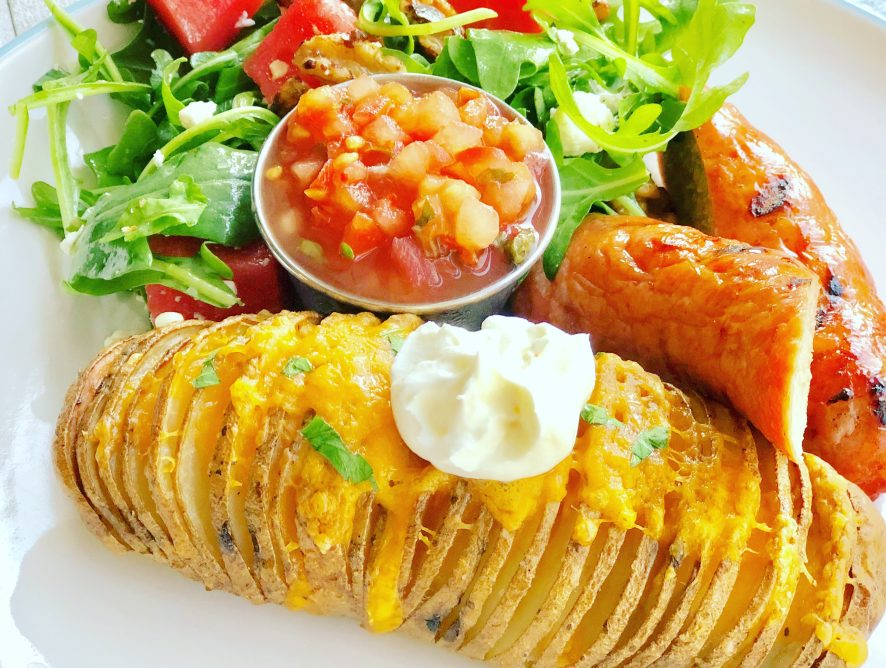Hasselback Potatoes - this simple dish brings a terrific textural contrast and is a must make side dish!