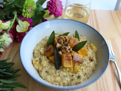 Healthy Brown Rice Butternut Squash Risotto