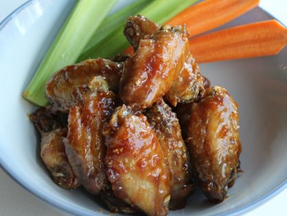 Delicious Oven Baked Honey Garlic Chicken Wings