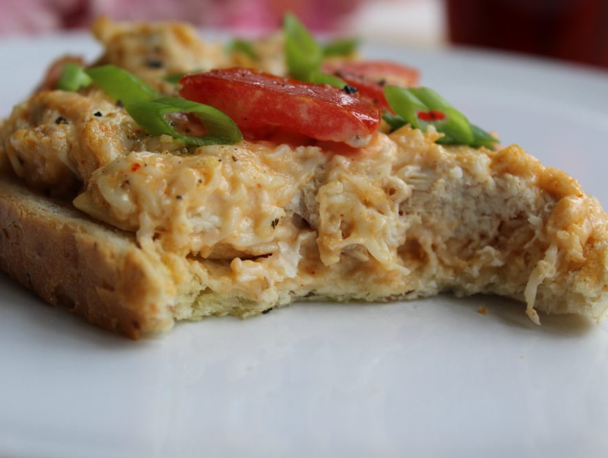 Easy, delicious and healthy chicken tomato melt