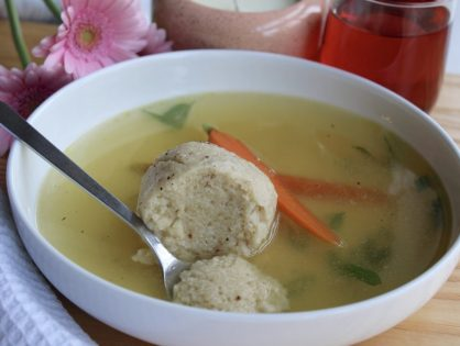 Light as air Matzo ball soup